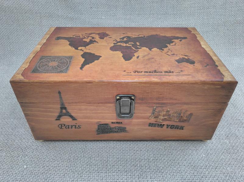 Caja de música para recuerdos de viajes.