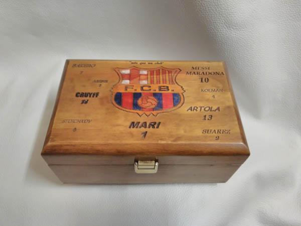 Caja de música personalizada para aficionada del Barcelona F.C.